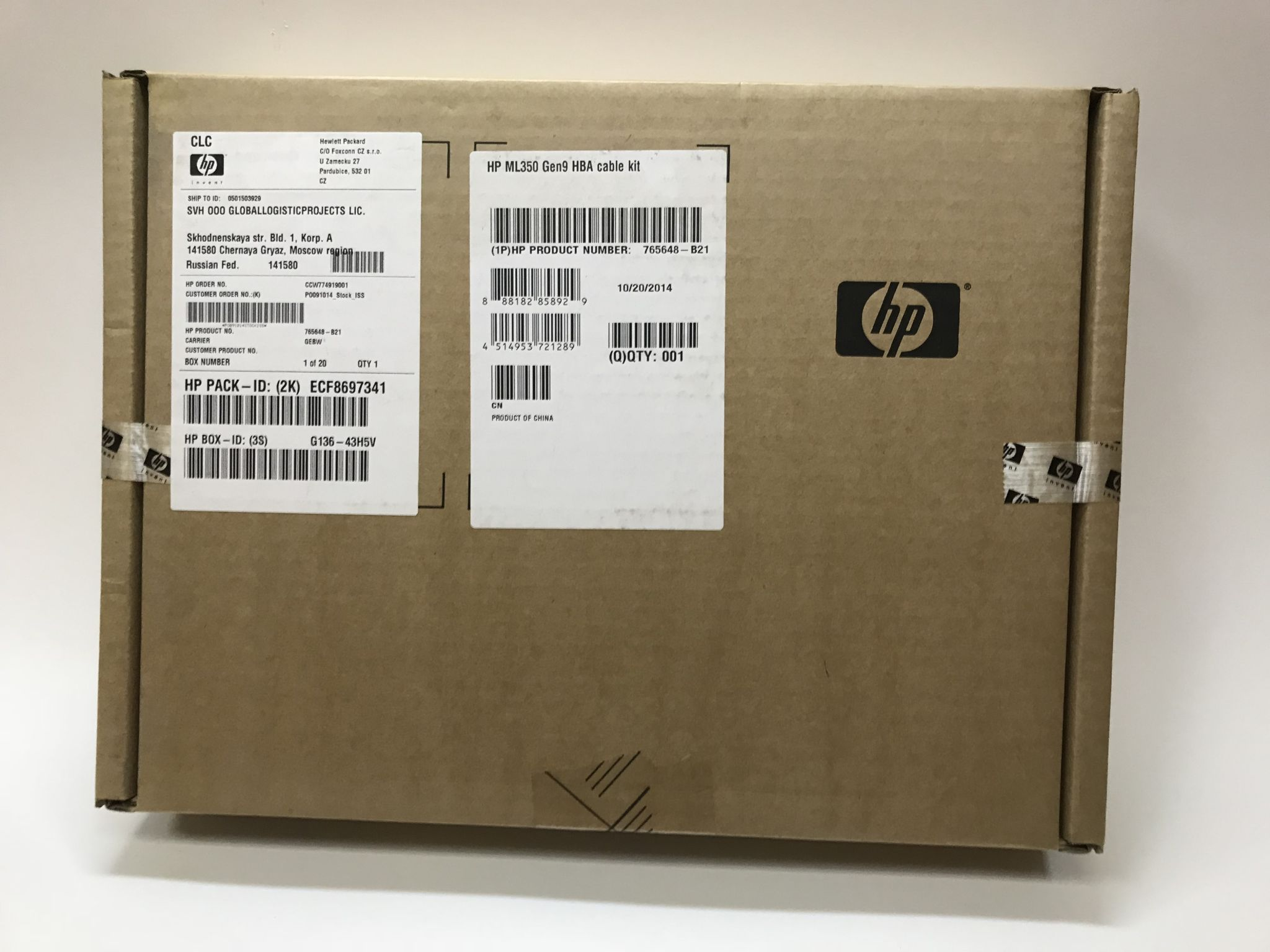 Кабель HP Mini-SAS для H240 ML350 Gen9 Host Bus Adapter Mini-SAS Cable Kit 765648-B21