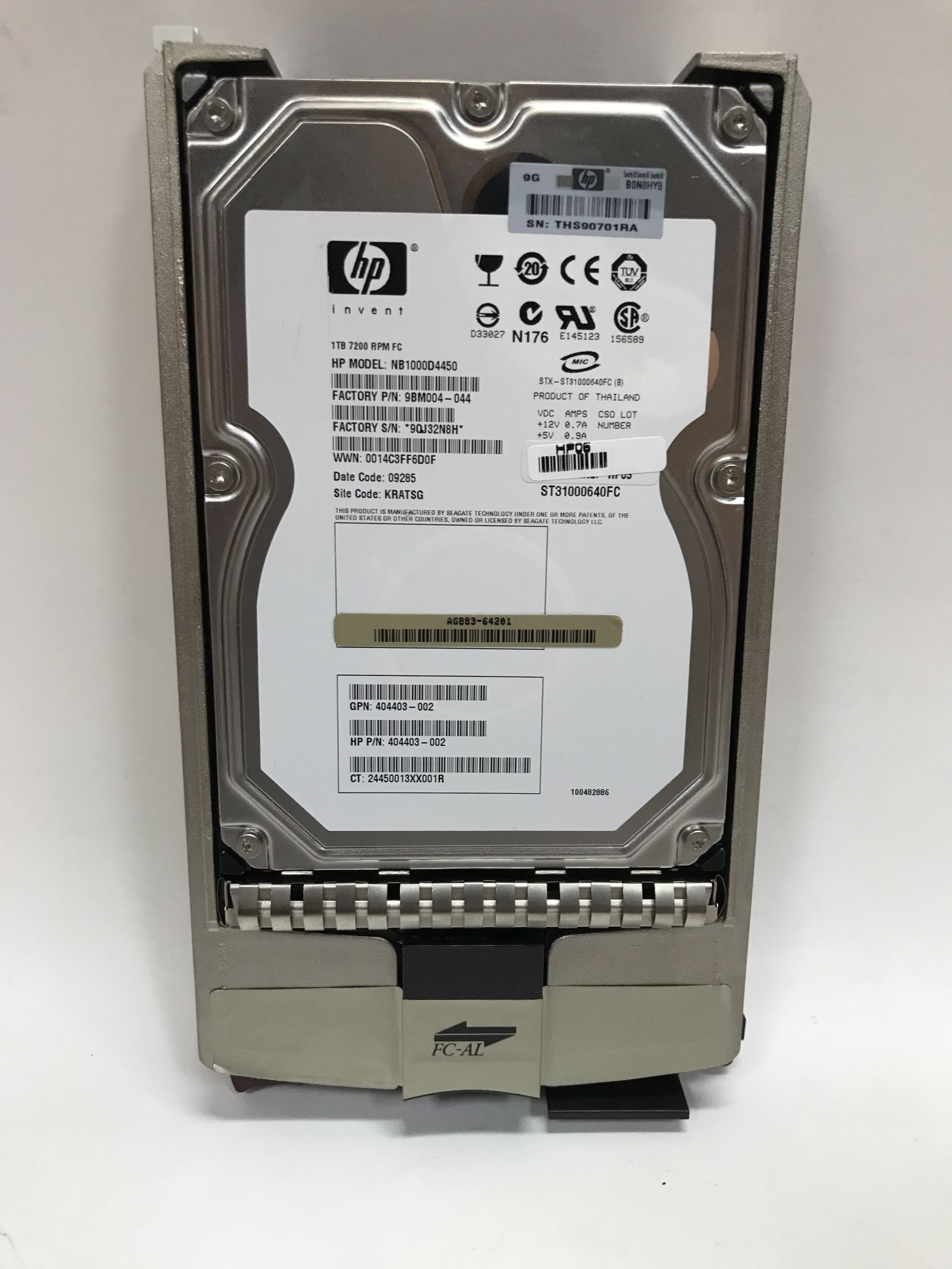Жёсткий диск HP 1Tb 7200rpm FATA hot-swap Ref