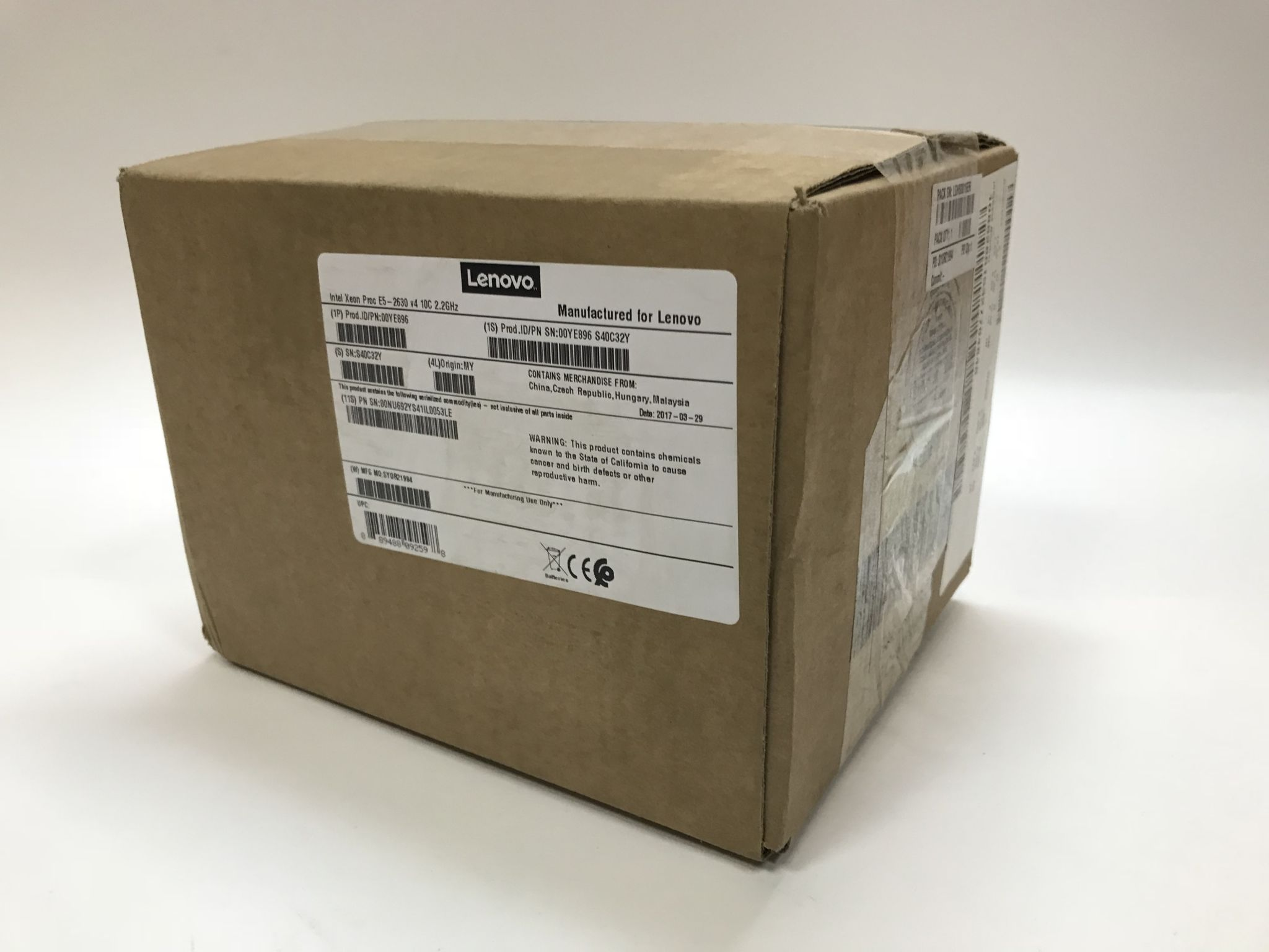 Процессор IBM Lenovo Intel E5-2630v4 KIT
