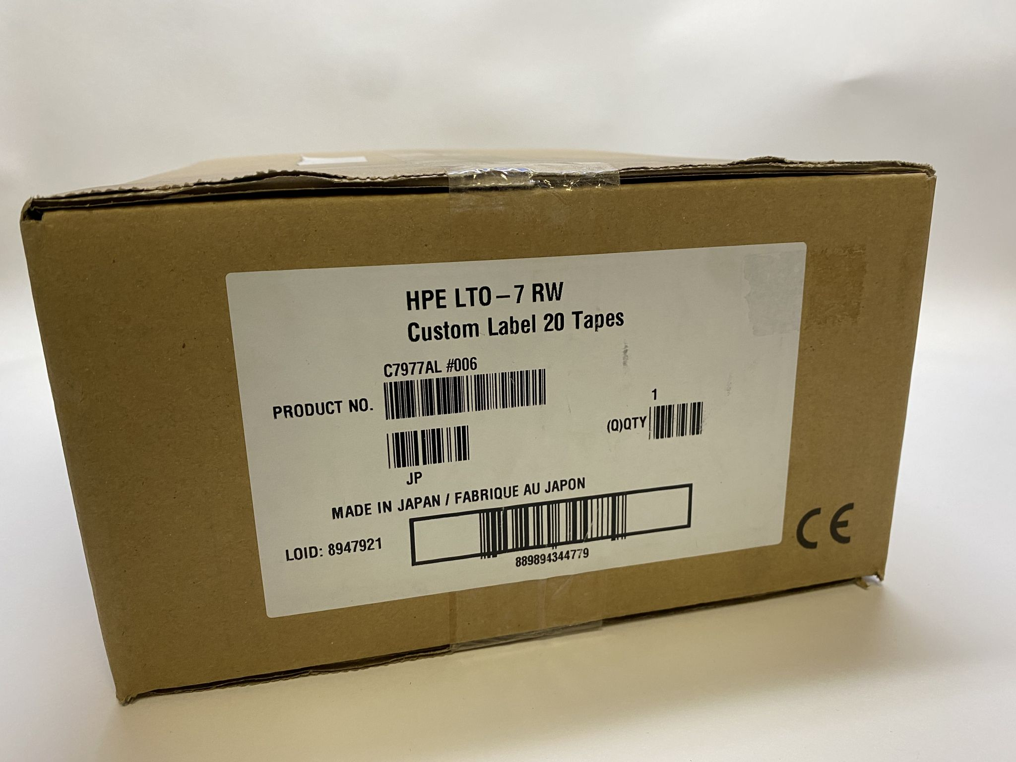 HPE C7977AL, LTO-7 RW Custom Label 20 Tapes